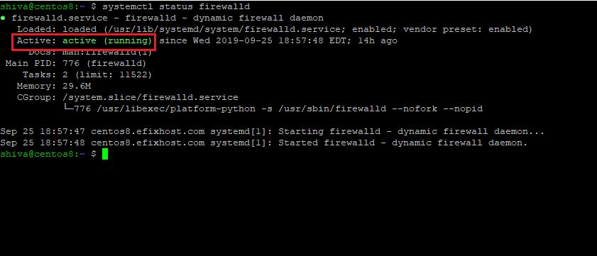 راه اندازی و غیرفعال کردن فایروال در RHEL 8 / CentOS8