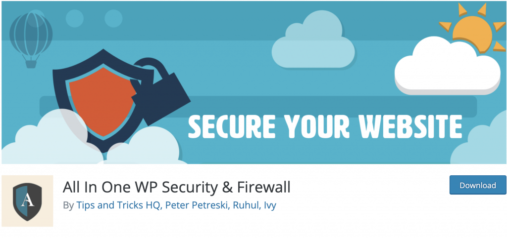 دانلود پلاگین وردپرس all in one wp security and firewall
